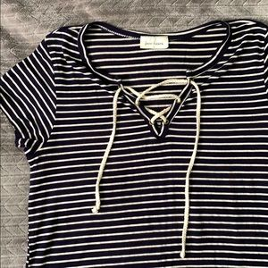 Free Kisses Tops - Striped short sleeve
